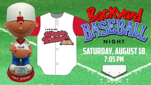 """On Aug. 18, the Lansing Lugnuts will host """"Backyard Baseball Night,"""" with free admission to all fans who share names with characters from the original """"Backyard Baseball"""" game, and the first 1,000 fans will receive a Pablo Sanchez bobblehead."""