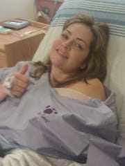 Nicole May while in the hospital for a surgery.