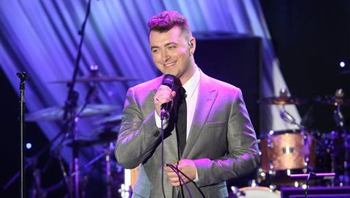 Sam Smith performs at the 2015 Clive Davis Pre-Grammy Gala show at the Beverly Hilton Hotel on Saturday, Feb. 7, 2015, in Beverly Hills, Calif. (Photo by Paul Hebert/Invision/AP)