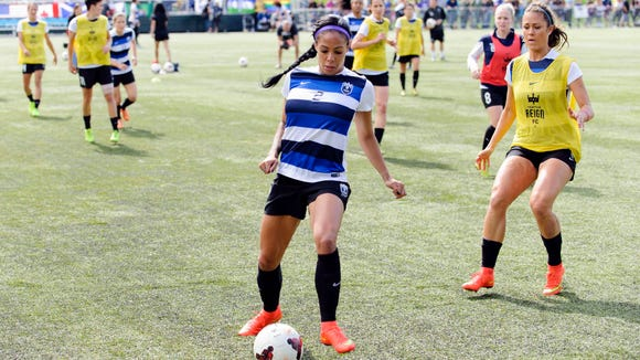 Sydney Leroux prior to a game against the FC Kansas City last August.