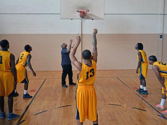 Members of Vineland Preparatory Academy basketball