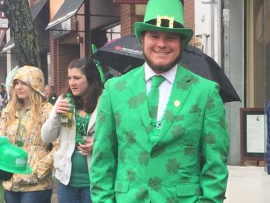 Rockaway resident Sean Gormeley enjoys the annual Morris County St. Patrick's Day Parade on Saturday, March 14, 2015 in Morristown.