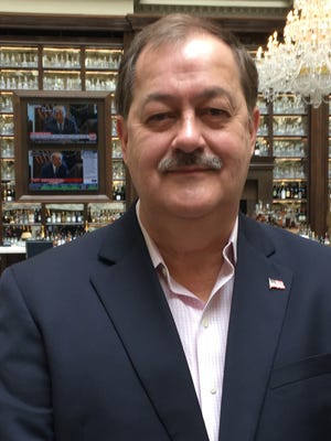 Don Blankenship, a candidate in West Virginia's GOP Senate primary, at the Trump International Hotel on April 9.