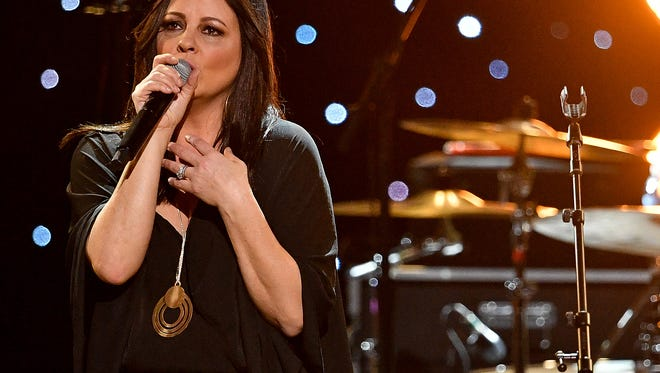 Sara Evans performs during the Charlie Daniels Volunteer Jam XX: A Tribute to Charlie show at Bridgestone Arena on March 8, 2018.