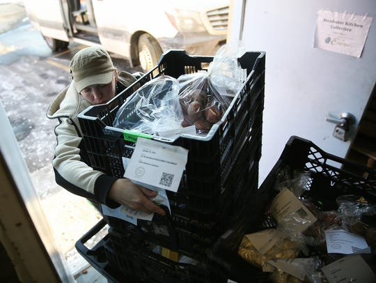 Patsy Carter, of Ohio Valley Food Connection, receives