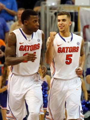 Scottie Wilbekin (5), Casey Prather (24) and Florida are the likely No. 1 overall seed in a wide-open NCAA tournament.
