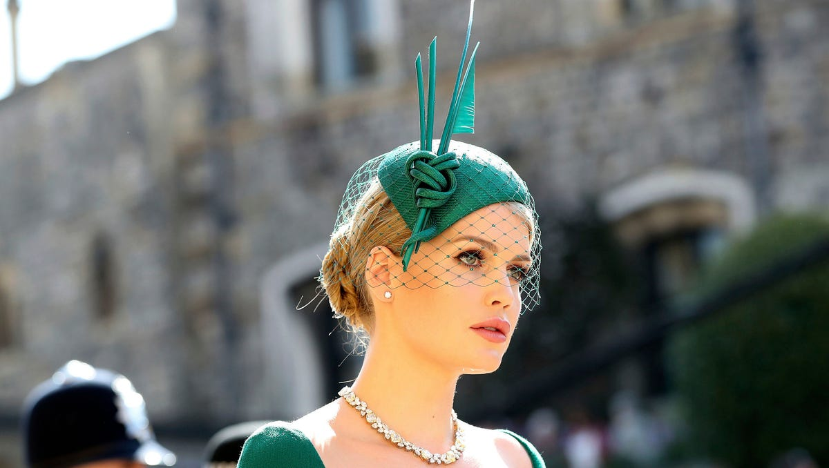 Princess Diana's niece Lady Kitty Spencer stuns in Victorian wedding gown: See the photos