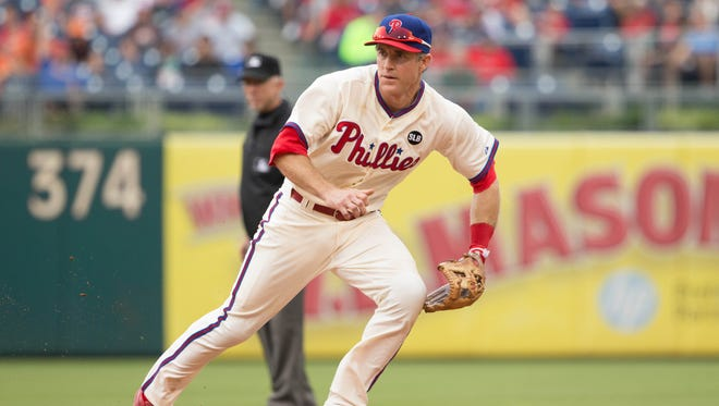 The Dodgers acquired Chase Utley in a trade from the Phillies.