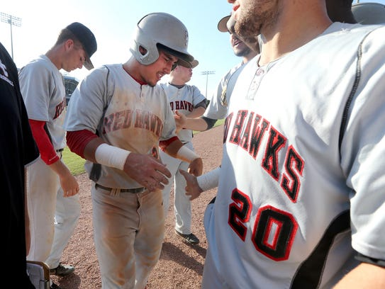 Stewarts Creek Tre Bailliez is congratulated by his