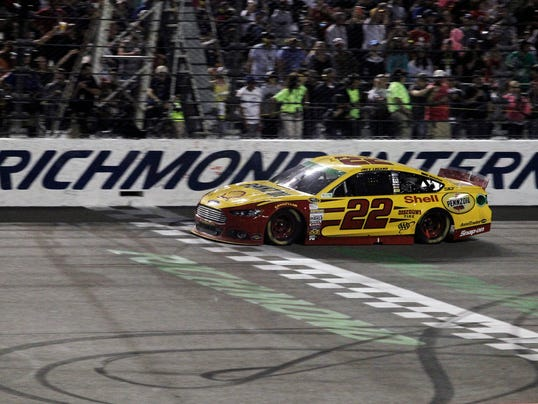 4-27-2014 joey logano richmond finish