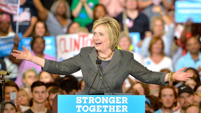 Hillary Clinton speaks at a campaign event in Raleigh, N.C., on June 22, 2016.