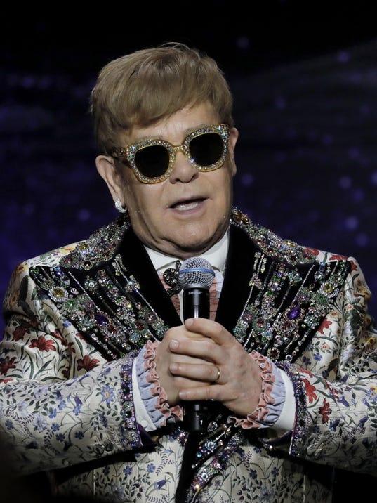 Elton John Press Conference, New York, USA - 24 Jan 2018