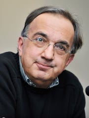Sergio Marchionne speaks at the press conference at the FCA headquarters in Auburn Hills in this May 6, 2014 file photo.