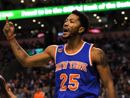 Derrick Rose. New York Knicks guard Derrick ... bc04e9bec