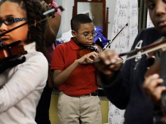 Richard plays violin-T