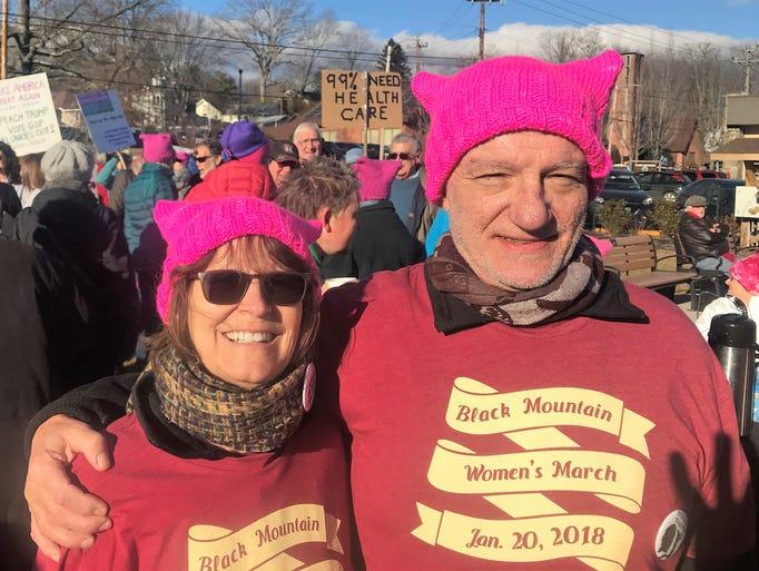 Women's March in Black Mountain on Jan. 20, 2018, photo