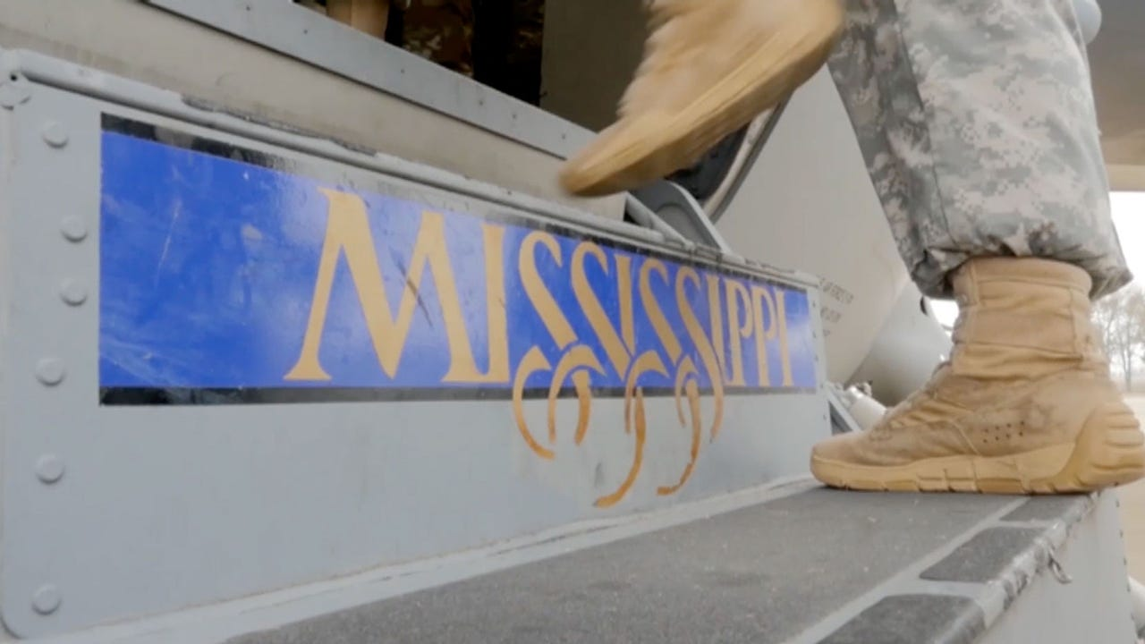 Mississippi National Guard sendoff to inauguration