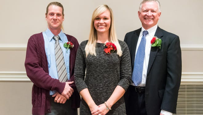 Vineland 2016 Athletic Hall of Fame inductee's Scott Jakubowski, Tiffany (Malatesta) Jaeger and Andy Hall at Eastlyn Country Club on Tuesday, November 22.