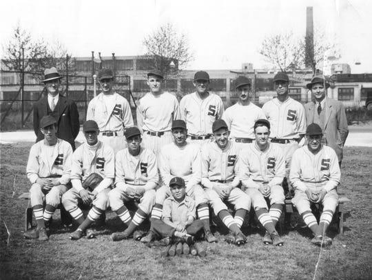 Sayles Bleachery baseball team, circa 1934.