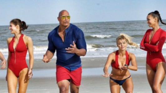 "Dwayne Johnson showed off ""Baywatch"" at CinemaCon 2016"