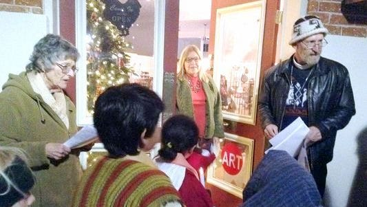 During last year's Las Posadas, participants made stops at businesses on Bullard Street seeking shelter for Mary and Joseph, who were portrayed by children.