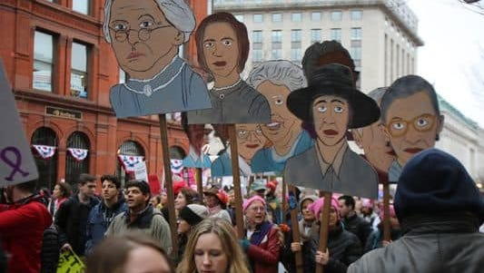 Thousands participated in the Women's March on Washington.