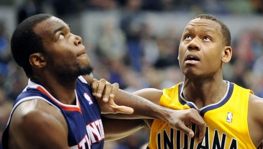 Why are they gazing up? It must be to notice the Pacers' high team rebounding totals this year