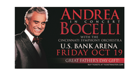See Andrea Bocelli in Concert
