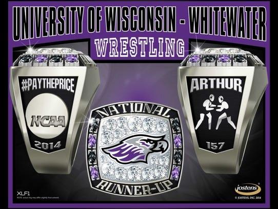 UW-Whitewater 2014 wrestling runner-up ring