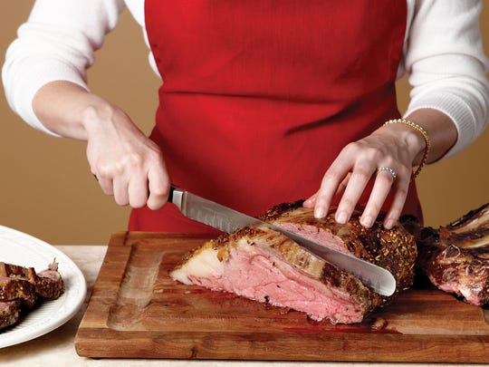 Prime rib also is called a standing rib roast or a beef rack rib roast.