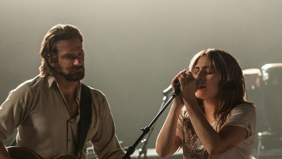 """Bradley Cooper and Lady Gaga sing live in """"A Star Is"""
