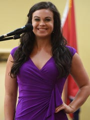 Miss Decatur County Callie Compton introduces herself