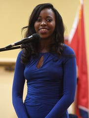 Miss Lane College DeNisha Mattox introduces herself