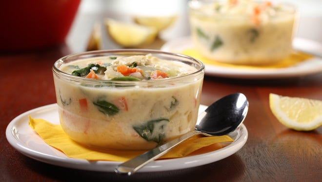 Lemon Chicken Soup with Quinoa and Kale takes inspiration from the Greek lemon and egg-based dish avgolemono.