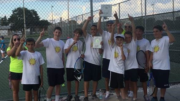 Lexington Middle School swept Gulf Middle 5-0 to secure the Lee County boys tennis championship, finishing undefeated for the second straight season.