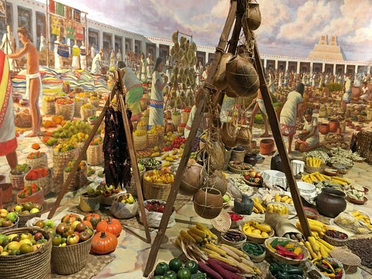 """Global Kitchen"" re-creates an Aztec market at the"