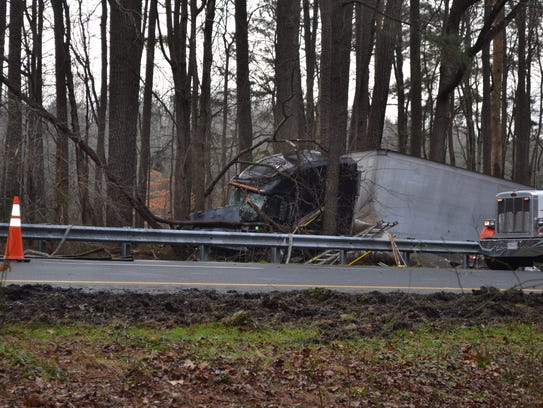 Princess Anne police investigated a tractor-trailer