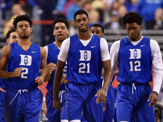 NCAA Basketball: Final Four-Duke Practice