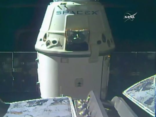 Spacex cargo ship back on earth after splashdown for Space station usa