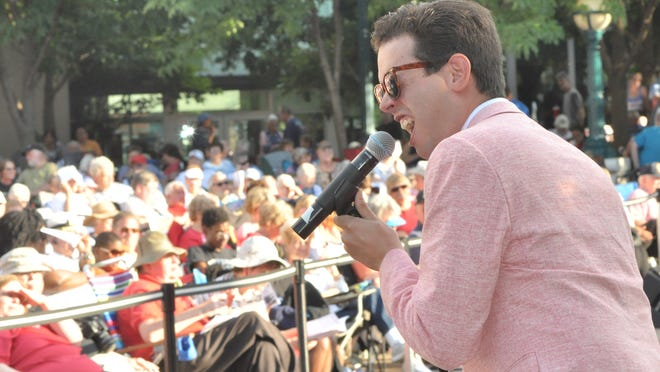 Dustin Hopkins and The Big Swing Band kick the night off Friday with music by Cole Porter at the 2014 Stars & Stripes celebration at Riehle Plaza in downtown Lafayette.