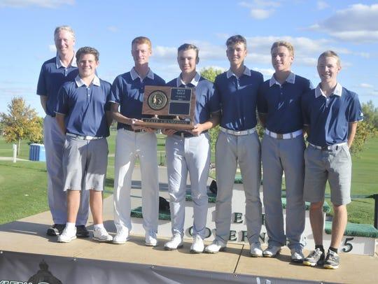 O'Gorman Golf Team left to right: Blake Dornbusch,
