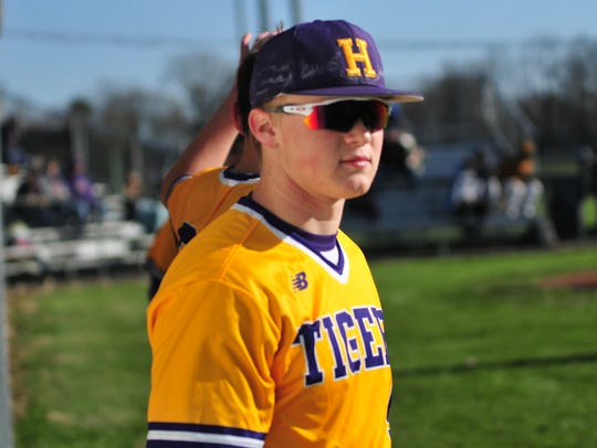 Hagerstown's Mason Hicks during Hagerstown's 6-3 win