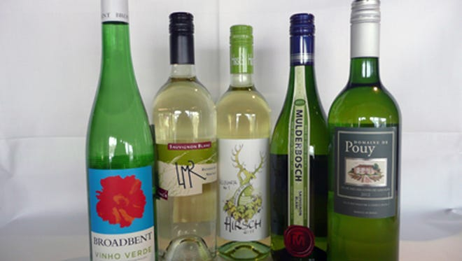 A selection of green wines from Tarbell's.
