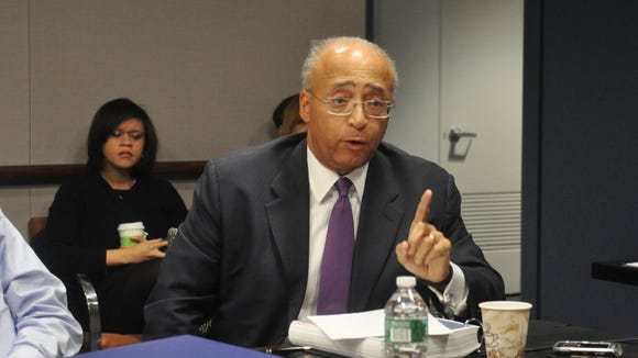 William C. Thompson, Jr., speaks during a Gaming Facility Location Board on Jan. 13 in New York City.
