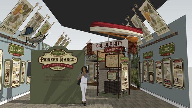 Pioneer Era exhibit, Marco Island