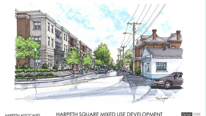 A new rendering of Harpeth Square shows proposed additional residential space.