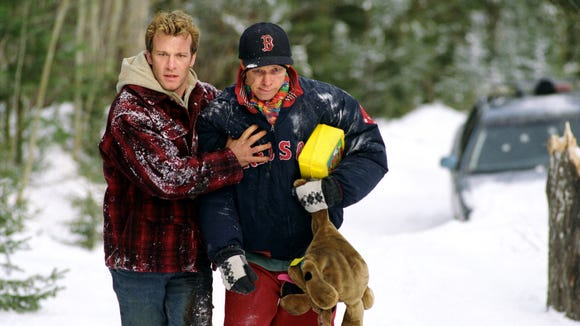 "Thomas Jane, left, and Donnie Wahlberg are lifelong buddies who face an alien menace in ""Dreamcatcher."""