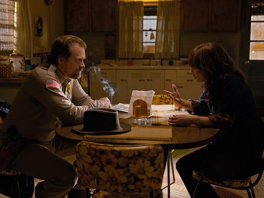 David Harbour as Jim and Winona Ryder as Joyce on 'Stranger