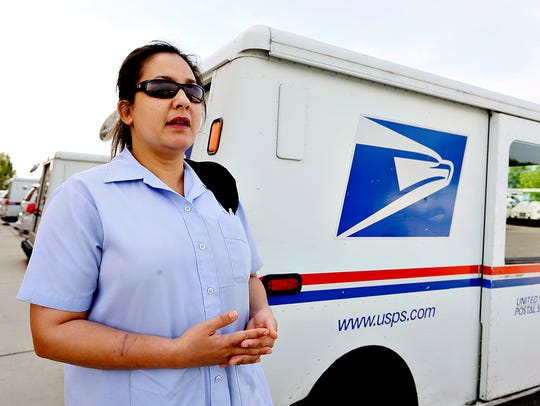 Mail Carrier Technician Evangeline Doman, of Springettsbury