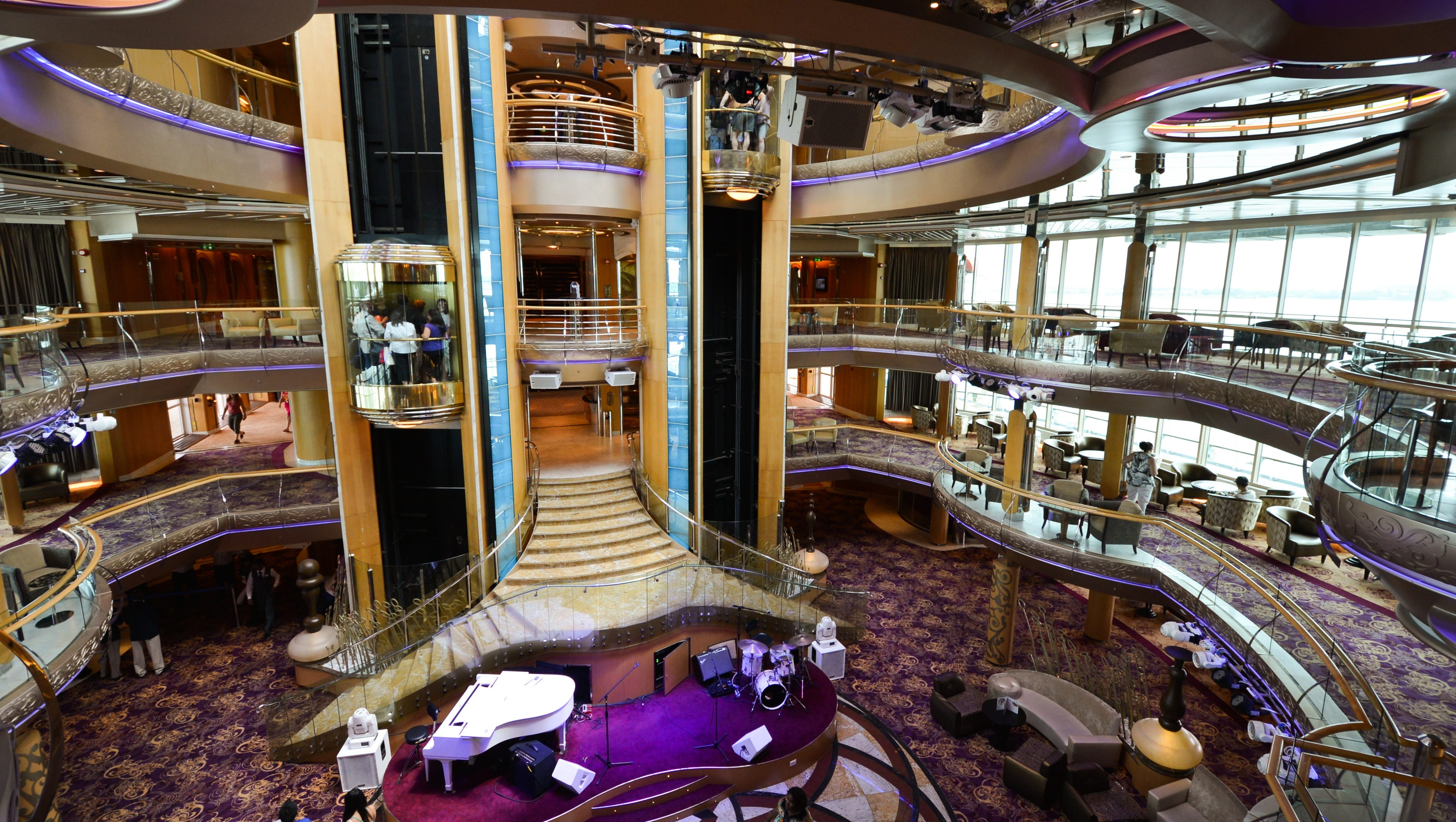 The hub of Grandeur of the Seas' interior is the Centrum, a six-story atrium.